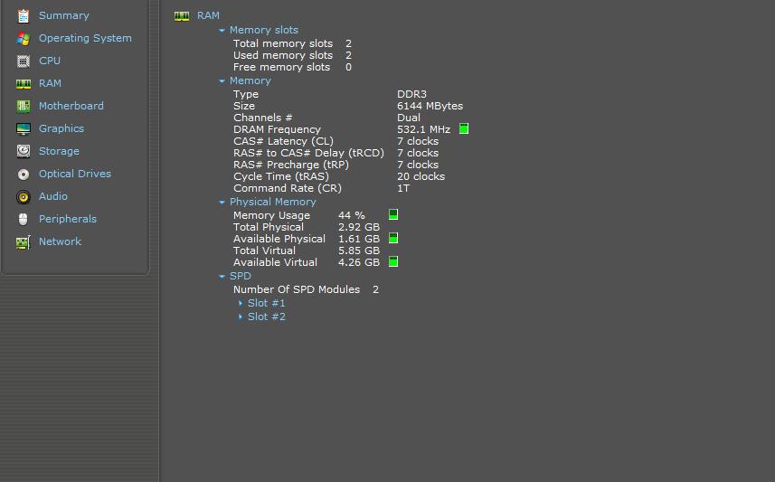 برنامج Speccy لمراقبة أداء المكونات الصلبة لحاسبك