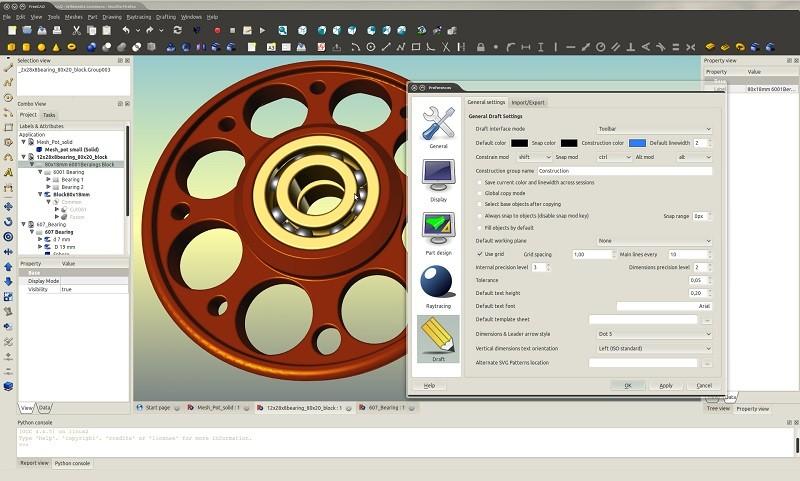 FreeCad برنامج لإنتاج الرسومات الميكانيكية ثلاثية الأبعاد