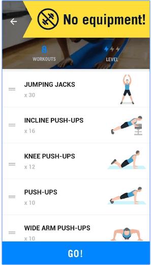 احصل على جسم رياضي في منزلك مع تطبيق Home Workout