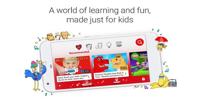 تطبيق YouTube Kids الموجه للأطفال