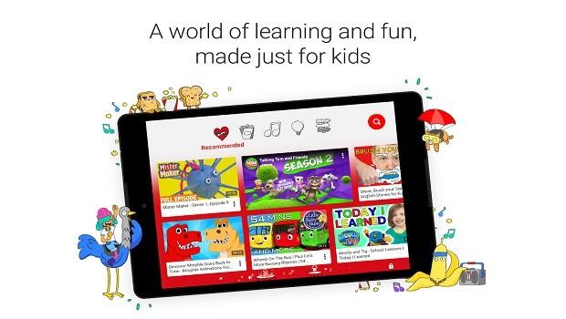 تطبيق YouTube Kids الموجة للأطفال