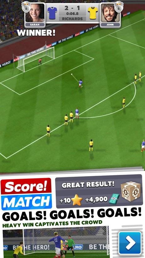 لعبة كرة قدم Score! Match ستفوق توقعاتك